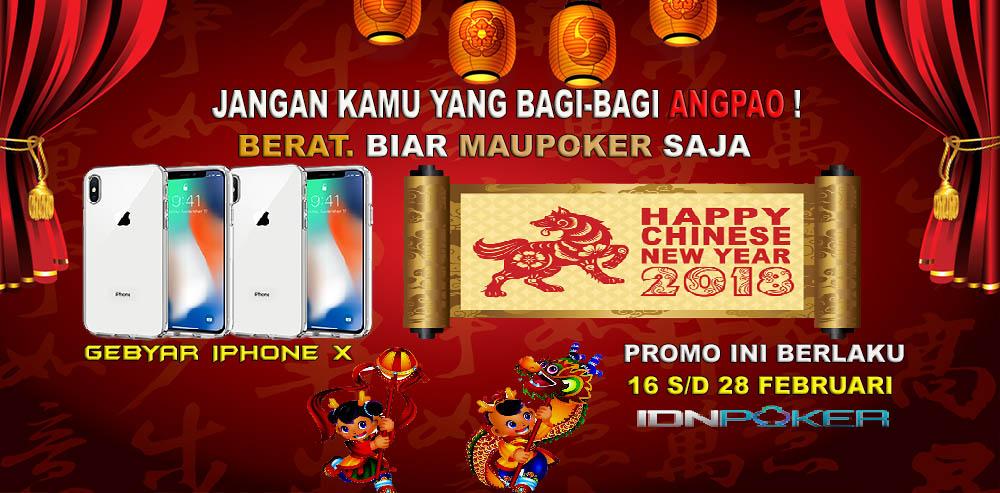Situs Poker Online Terpopuler Memberikan Bonus Imlek 2018